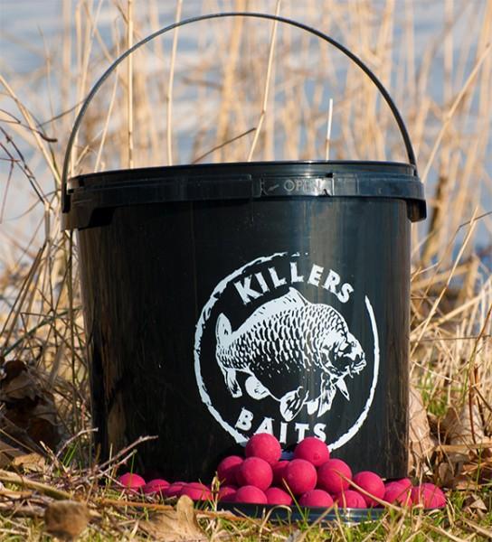 Carp Killers Pink Peach Boilies 3,5kg Eimer