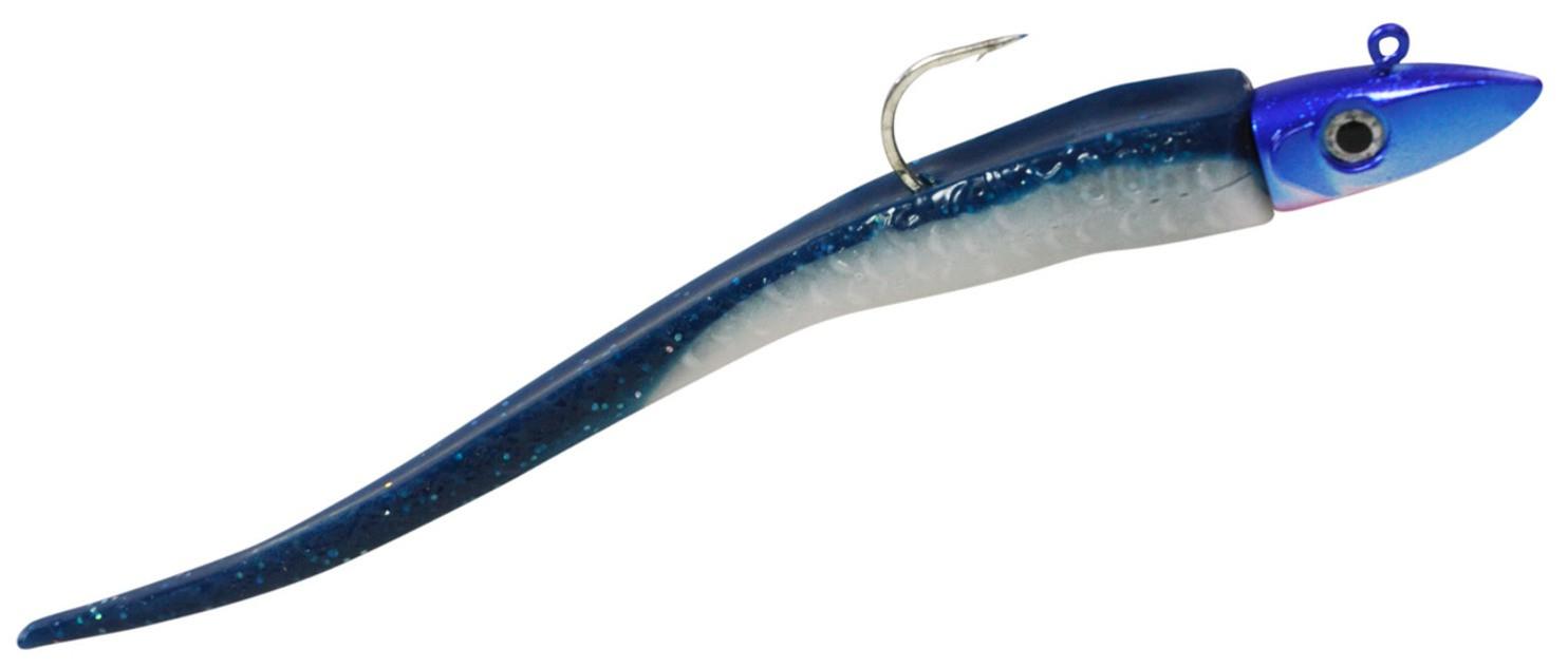 Hogy Twitcher 8//0 Jiggin 23cm Gummifisch blue black Heilbuttköder Gummiköder