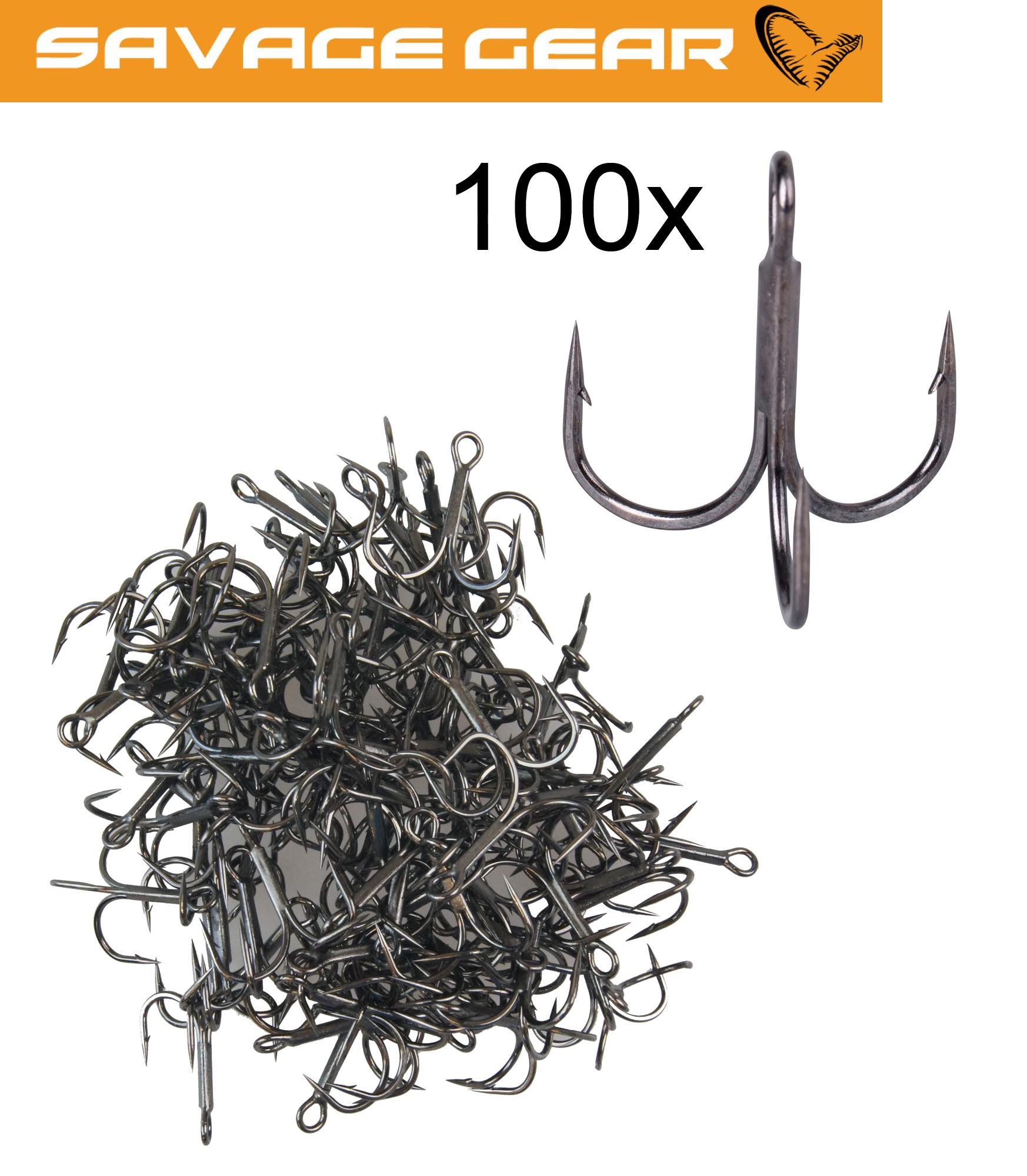 Savage Gear Y-Treble Hook 100 Drillinge Raubfischhaken Angelhaken für Hecht