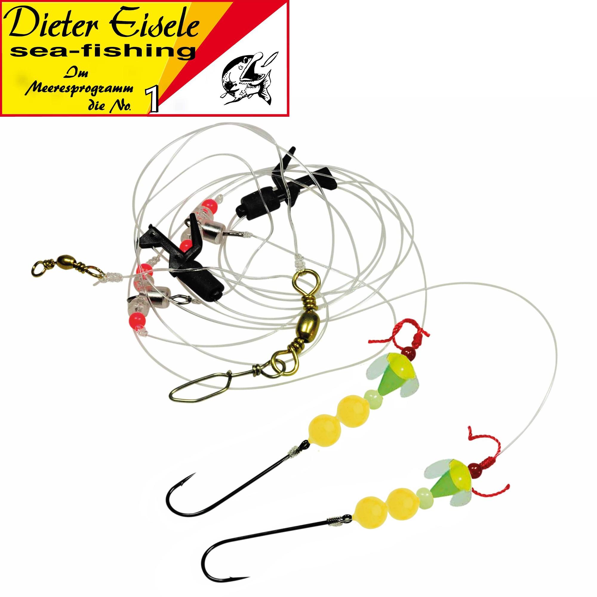 Dieter Eisele Select Weitwurf Vorfach fluor gelb//grün 110cm 0,60mm Brandungsrig