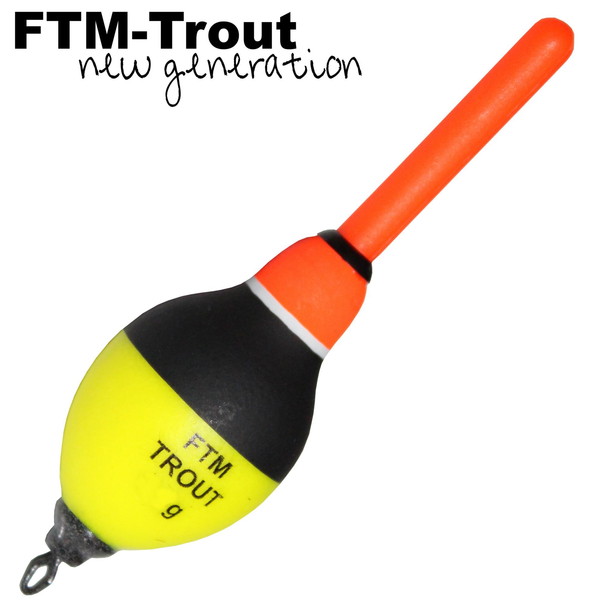 FTM Slider Knicklicht Forellenpose Laufpose Schwimmer Trot Fishing Forelle