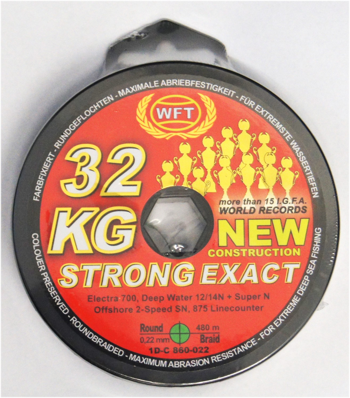 Angelschnur 0,20€//1m WFT KG STRONG geflochtene Schnur 150m 0,22mm 32kg