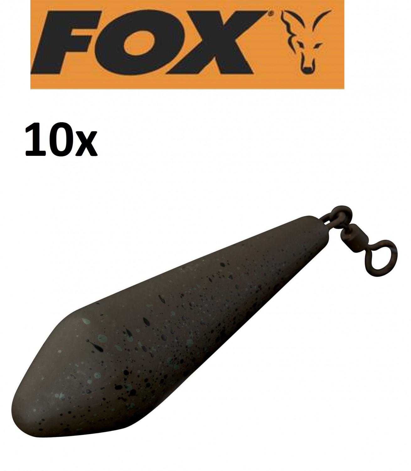 10 Fox Camotex Distance Leads Bleie mit Wirbel für Karpfenmontagen Karpfenbleie