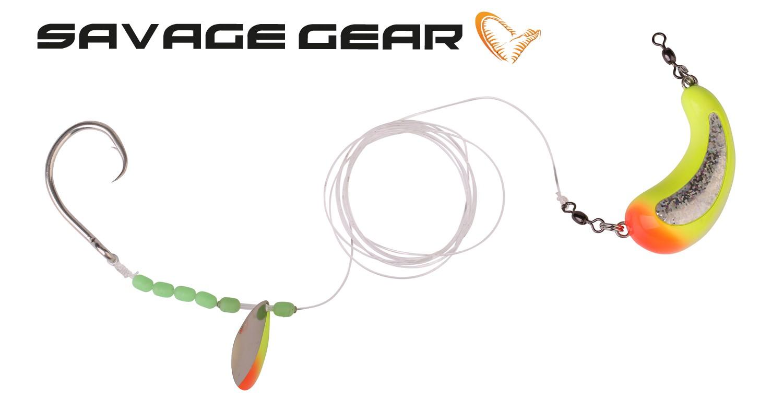 Savage Gear Nordic Bait Fish Rig 1mm 500g Circle Hook 12//0 Meerssystem