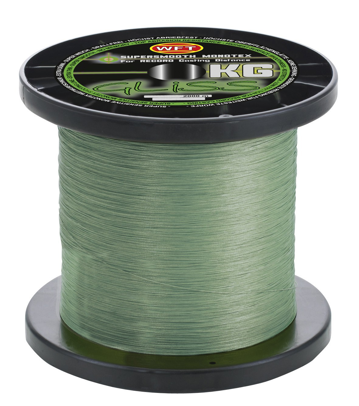 Wft gliss kg monotex line 2000m gr n for Gliss fishing line