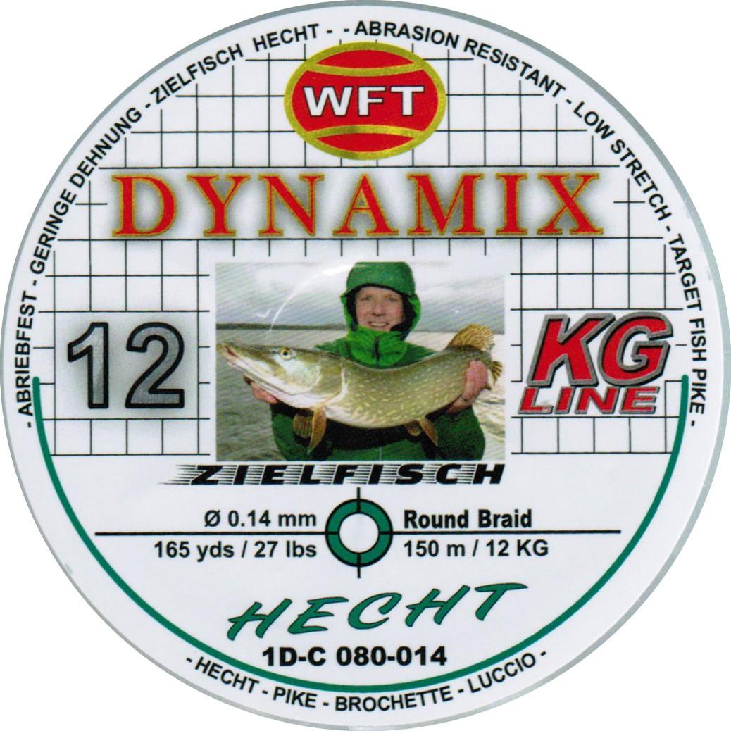 WFT Round Dynamix Hecht green 150m geflochtene Schnur für Hecht 0,07€//1m