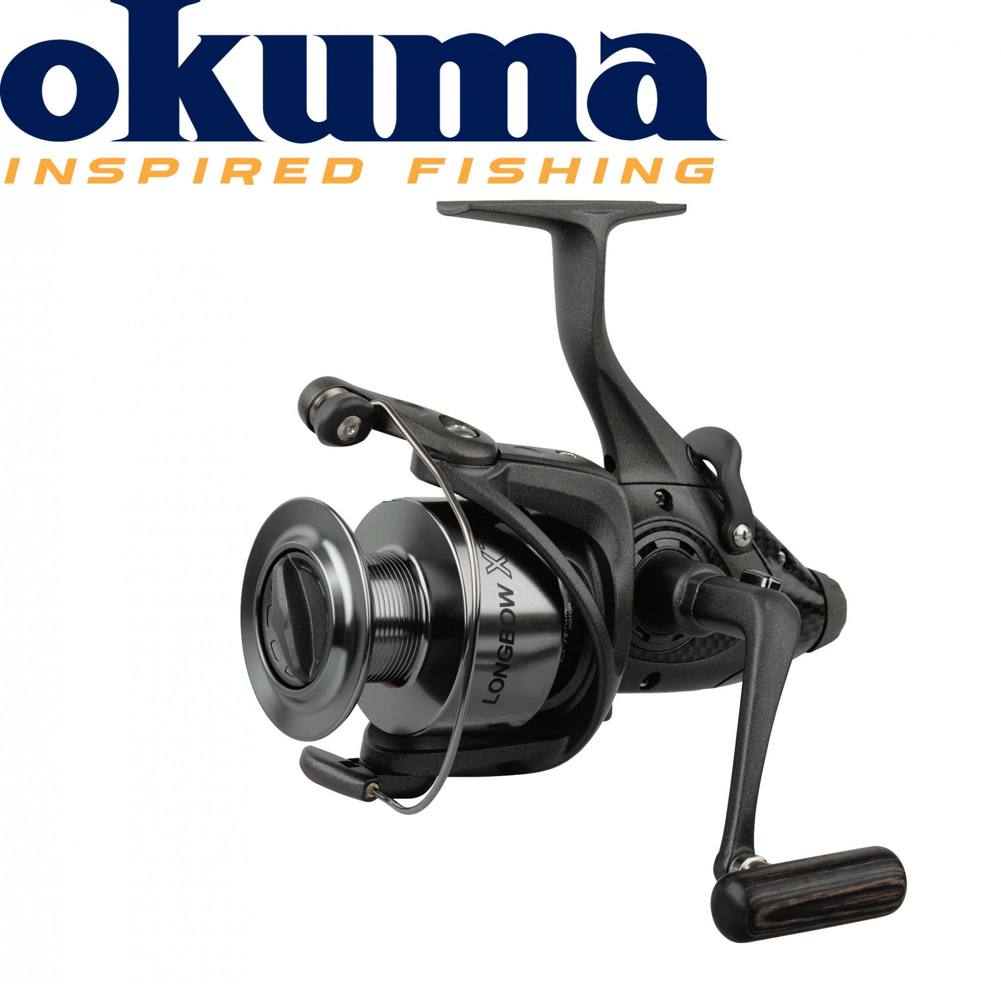 Okuma Longbow XT Baitfeeder 640– 240m 0,25mm Freilaufrolle Karpfenrolle
