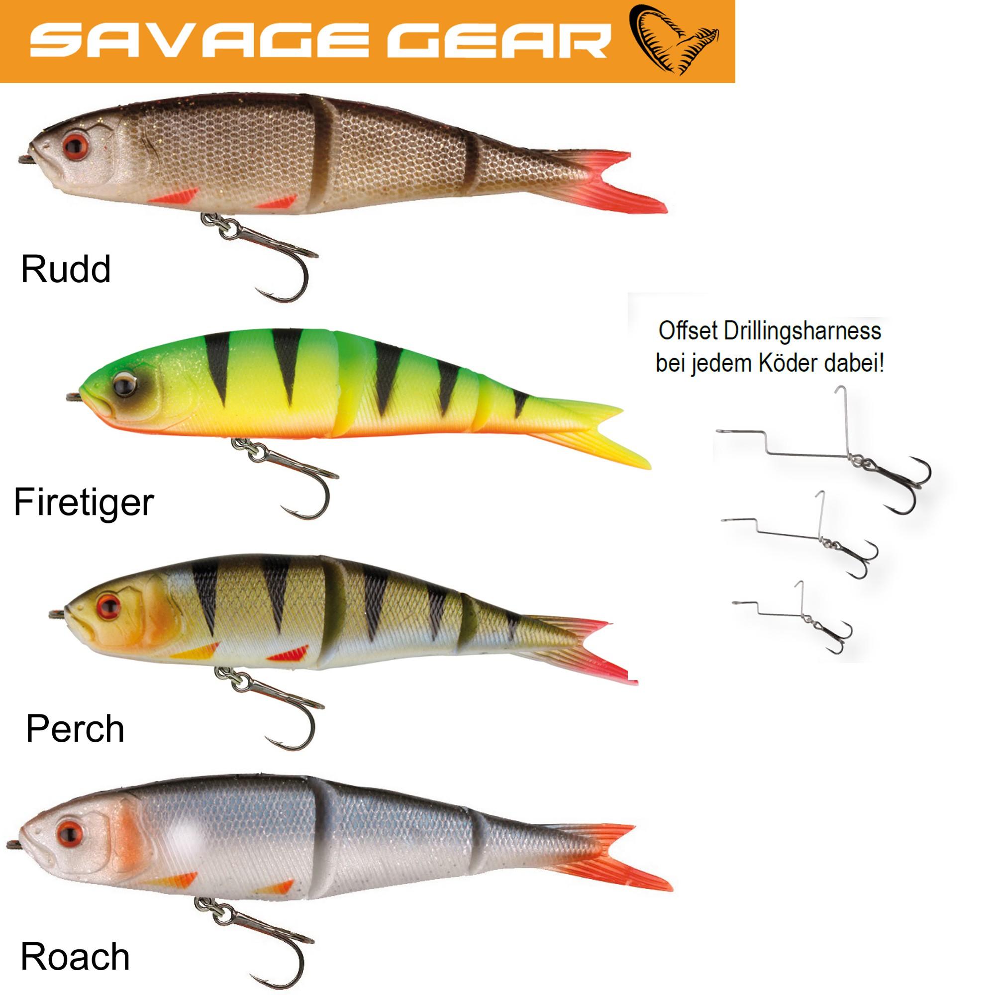 Savage Gear Soft 4Play Swim/&Jerk Gummifische 9,5cm, 13cm o. 19cm Hechtköder