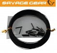 Savage Gear Black Coated Wire 0,54mm 15kg 20m + 20 Klemmhülsen