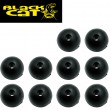 Black Cat Rubber Shock Beads 10mm