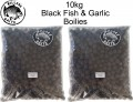 Carp Killers Black Fish & Garlic Boilies 10kg 20mm