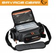Savage Gear System Box Bag S (15x36x23cm) - Angeltasche inkl. 3 Angelboxen & Ziplock Bags