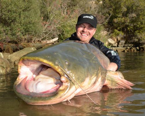 Zeck Fishing - Carsten Zeck mit Waller
