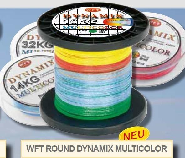 Round Dynamix KG Multicolor 1000m geflochtene Schnur